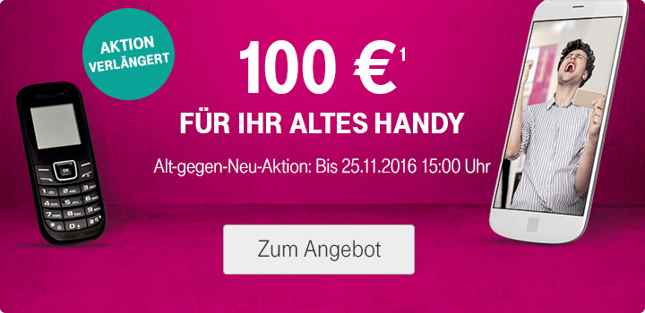 alt gegen neu verl ngert 100 euro gutschrift f r altes handy telekom profis. Black Bedroom Furniture Sets. Home Design Ideas