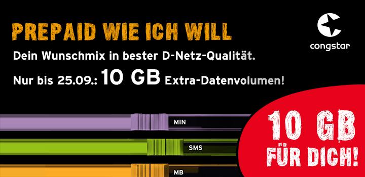 Telekom Karte Aktivieren.Congstar Aktion Prepaid Karte Aktivieren Und 10 Gb Datenvolumen