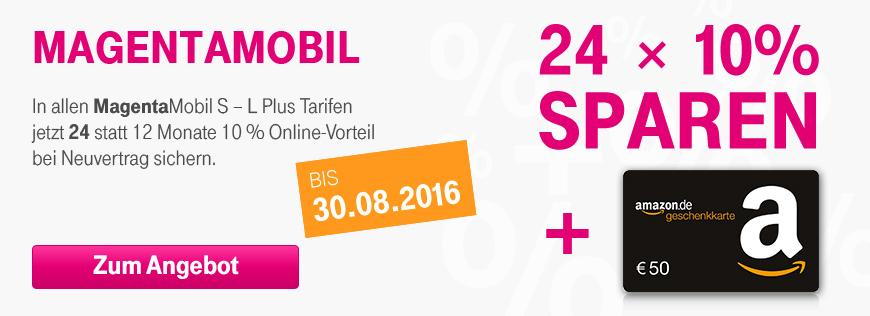 Ab Sofort 24 Monate 10 Online Vorteil Bei Magentamobil Telekom