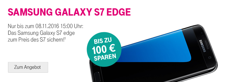 samsung galaxy s7 edge zum preis des samsung galaxy s7 telekom profis. Black Bedroom Furniture Sets. Home Design Ideas