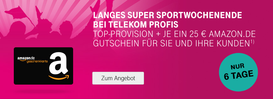 Top-Provision und Amazon.de-Gutschein on top