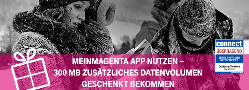 Meinmagenta App 300 Mb Zusatzliches Datenvolumen Geschenkt