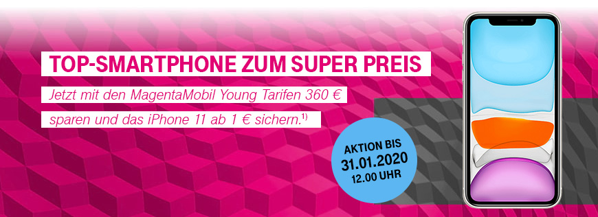 Apple iPhone 11 im MagentaMobil Young Tarif zum Aktionspreis