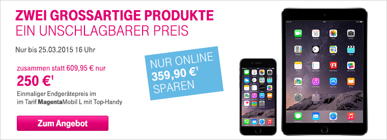 iphone 6 ipad mini 3 zum unschlagbaren preis telekom profis. Black Bedroom Furniture Sets. Home Design Ideas